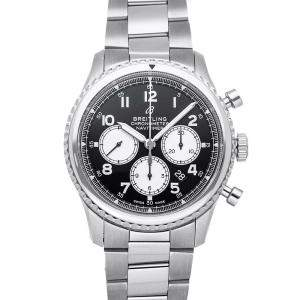 Breitling Black Stainless Steel Navitimer 8 B01 Chronograph AB0117131B1A1 Men's Wristwatch 43 MM