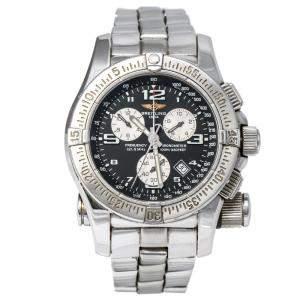 Breitling Black Stainless Steel Emergency A73321 Men's Wristwatch 43 mm