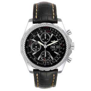 Breitling Black Stainless Steel Bentley Motors GT Special Edition A13362 Men's Wristwatch 45 MM