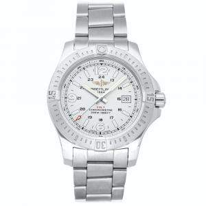 Breitling Silver Stainless Steel Colt A7438811/G792 Men's Wristwatch 44 MM
