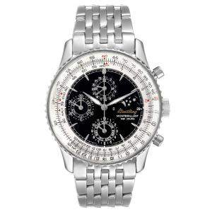 Breitling Black Stainless Steel Navitimer Monbrillant 1461 Jours Moonphase A19030 Men's Wristwatch 41.5 MM