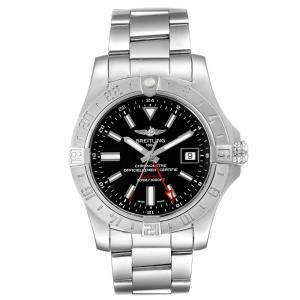 Breitling Black Stainless Steel Aeromarine Avenger II GMT A32390 Automatic Men's Wristwatch 42 MM
