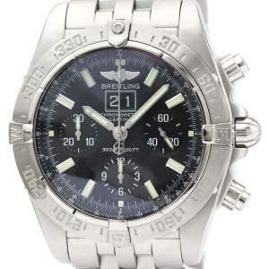 Breitling Black Stainless Steel Blackbird Automatic A44359 Men's Wristwatch 44 MM