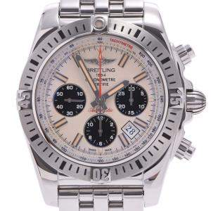 Breitling Ivory Stainless Steel Chronomat Airborn Ab01154G Men's Wristwatch 44 MM