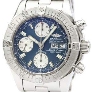 Breitling Blue Stainless Steel Chrono SuperOcean Automatic A13340 Men's Wristwatch 42 MM