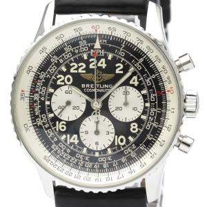 Breitling Blakc Stainless Steel Navitimer Cosmonaute A12322 Men's Wristwatch 41 MM