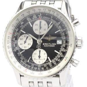 Breitling Black Stainless Steel Navitimer II A13322 Men's Wristwatch 42MM
