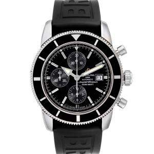 Breitling Black Stainless Steel SuperOcean Heritage Chrono A13320 Men's Wristwatch 46 MM