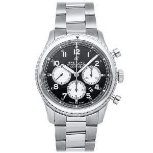 Breitling Black Stainless Steel Navitimer 8 B01 Chronograph AB0117131B1A1 Men's Wristwatch 43 MM