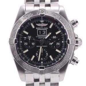 Breitling Black Stainless Steel Blackbird A44359 Men's Wristwatch 42 MM