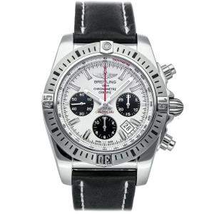 Breitling White Stainless Steel Chronomat Airborne AB01154G/G786 Men's Wristwatch 44 MM