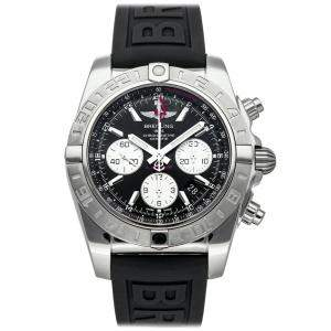 Breitling Black Stainless Steel Chronomat 44 GMT AB042011/BB56 Men's Wristwatch 44 MM