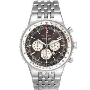 ساعة يد رجالية بريتلينغ نافيتايمر هريتادج أوتوماتيك أيه35340 ستانلس ستيل سوداء 43 مم