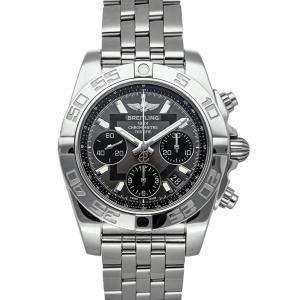"""ساعة يد رجالية بريتلينغ """"كرونومات ايه بي014012/أف554"""" ستانلس ستيل رصاصية 41 مم"""