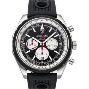 """ساعة يد رجالية بريتلينغ """"كرونو-ماتيك ايه1436002/بي920"""" ستانلس ستيل سوداء 49 مم"""