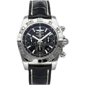 Breitling Black Stainless Steel Chronomat AB011012/BF76 Men's Wristwatch 44 MM