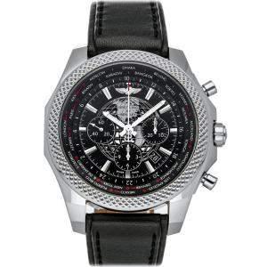 ساعة يد رجالية بريتلينغ بنتلي بي05 يونيتايم أيه بي0521يو4/بي سي65 ستانلس ستيل سوداء 49 مم