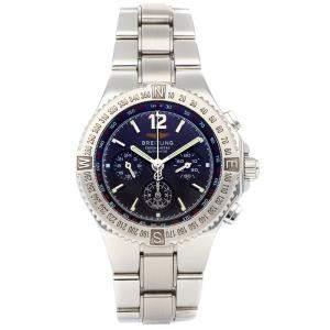 ساعة يد رجالية بريتلينغ هركولس كرونوغراف أيه3936211/بي597 ستانلس ستيل زرقاء 45 مم