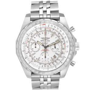 Breitling White Stainless Steel Bentley Motors T Chronograph A25363 Men's Wristwatch 48.7MM