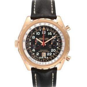 Breitling Brown 18K Rose Gold Chronomatic Limited Edition H22360 Men's Wristwatch 45 MM
