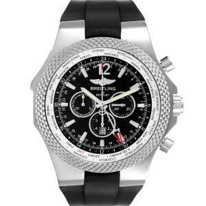 ساعة يد رجالية بريتلينغ بنتلي جي أم تي إصدار محدود أيه47362 ستانلس ستيل سوداء 49 مم