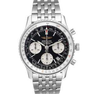 Breitling Black Stainless Steel Navitimer Chronograph A23322 Men's Wristwatch 42 MM
