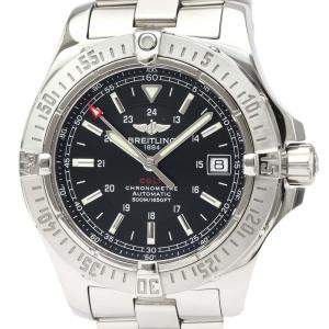Breitling Black Stainless Steel Colt Automatic A17380 Men's Wristwatch 41 MM