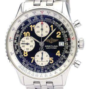 Breitling Black Stainless Steel Old Navitimer Automatic A13022 Men's Wristwatch 42 MM