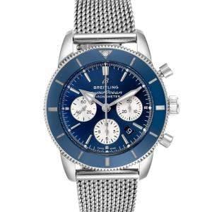Breitling Blue Stainless Steel SuperOcean Heritage II B01 AB0162 Men's Wristwatch 44 MM