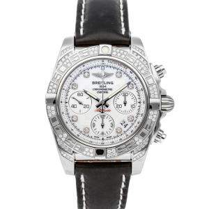 Breitling MOP Diamonds Stainless Steel Chronomat AB0140AF/A744 Men's Wristwatch 41 MM