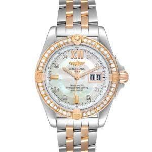 """ساعة يد رجالية بريتلينغ """"ويندريدير كوكبيت سي49350"""" ستانلس ستيل و ذهب وردي عيار 18 و ألماس و صدف 41 مم"""