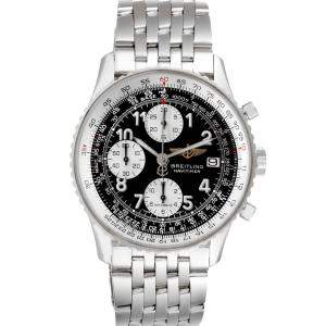 Breitling Black Stainless Steel Navitimer II Chronograph A13322 Men's Wristwatch 42 MM