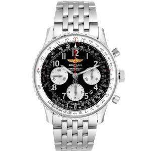 Breitling Black Stainless Steel Navitimer 01 AB0120 Men's Wristwatch 43 MM