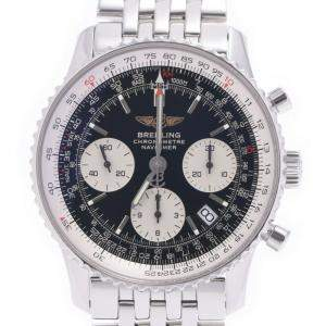 Breitling Black Stainless Steel Navitimer Date Chronograph A23322 Men's Wristwatch 40 MM
