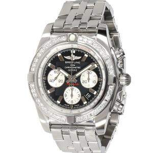 Breitling Black Diamonds Stainless Steel Chronomat AB011053/B967 Men's Wristwatch 44 MM