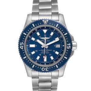 Breitling Blue Stainless Steel Aeromarine Superocean Y1739310 Men's Wristwatch 44 MM