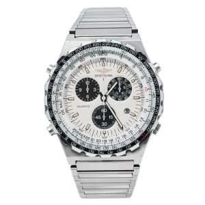 ساعة يد بريتلينغ نافي تايمر جوبيتر بيلوت 80975  ستانلس ستيل عاجية 42 مم
