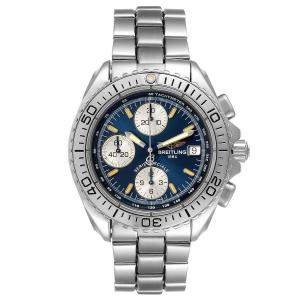 Breitling Blue Stainless Steel Aeromarine Chrono A13051 Men's Wristwatch 41 MM