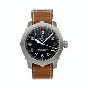 Breitling Black Stainless Steel Navitimer Aviator Super 8 B20 AB2040101B1X1 Men's Wristwatch 46 MM