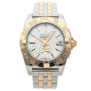 Breitling MOP 18K Rose Gold And Stainless Steel Galactic C3733012/A724 Men's Wristwatch 36 MM