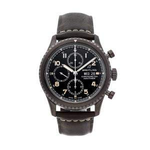 Breitling Black Blacksteel Navitimer 8 Chronograph M1331410/B1X1 Men's Wristwatch 43 MM