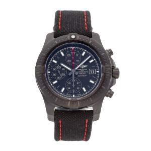 Breitling Black PVD Coated Stainless Steel Colt Chronograph Limited Edition M133881A/BE99 Men's Wristwatch 44 MM