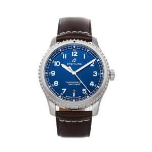 Breitling Blue Stainless Steel Navitimer 8 A17314101C1X1 Men's Wristwatch 41 MM