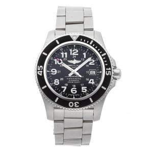 Breitling Black Stainless Steel Superocean II A17392D7/BD68 Men's Wristwatch 44 MM