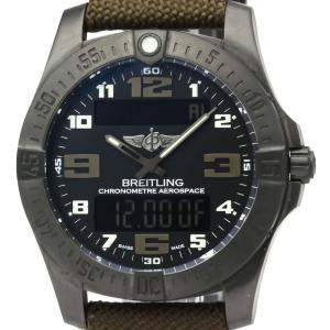 Breitling Black Titanium Aerospace Evo Night Mission V79363 Men's Wristwatch 43 MM