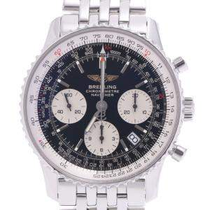 Breitling Blue Stainless Steel Navitimer Date Chronograph A23322 Men's Wristwatch 40 MM