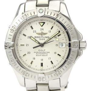 Breitling A Silver Stainless Steel Colt Automatic A17350 Men's Wristwatch 38 MM