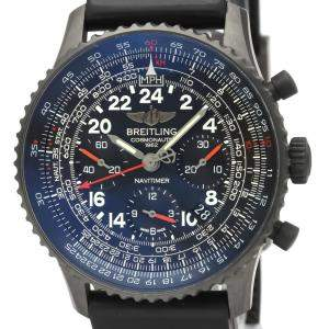 Breitling Black Stainless Steel Navitimer Mechanical MB021 Men's Wristwatch 43 MM