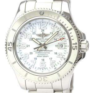 Breitling White Stainless Steel Superocean II Automatic A17365 Men's Wristwatch 42 MM