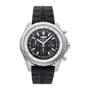 Breitling Black Stainless Steel Bentley Motors T Speed A253652D/BC29 Men's Wristwatch 48 MM
